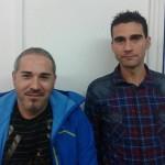 Els nous entrenadors del primer equip de la Fundació Grama, Carlos Martínez i José Manuel 'Pecas'