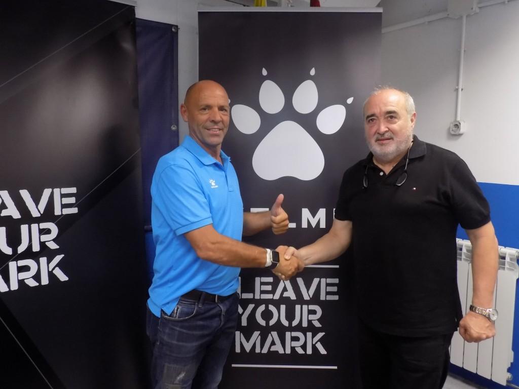 Luciano Herrero (Cap de l'Àrea Nacional de Kelme) i el nostre president Antonio Morales.