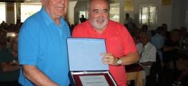 Antonio Morales homenatjat per la seva trajectòria com a president