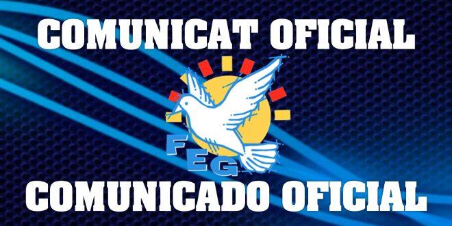 COMUNICAT OFICIAL: Temporada 2020-2021